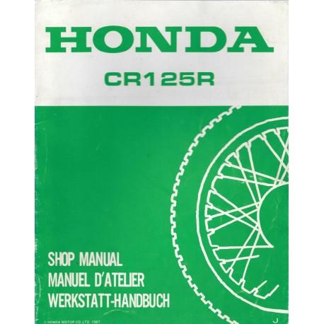 HONDA CR 125 R 1988 Additif au manuel de base novembre 1987