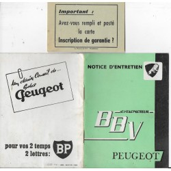 PEUGEOT BBV (manuel utilisateur 09 / 1961)