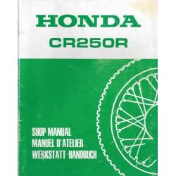 HONDA CR 250 R 1987 Additif au manuel de base octobre1986