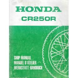 HONDA CR 250 R 1986 (manuel de base ) décembre 1985
