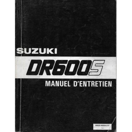 Manuel atelier SUZUKI DR 600 S de 1985 à 1989 (02 / 1991)