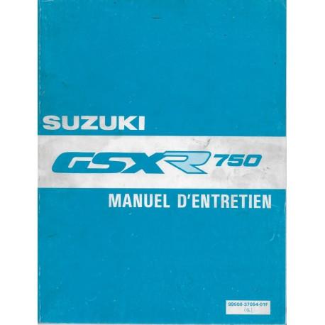 Manuel atelier SUZUKI GSX-R 750 de 1988 à 1990 (02 / 1991)
