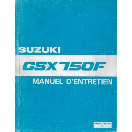 Manuel atelier SUZUKI GSX 750 F de 1989 à 1991 (04 / 1991)