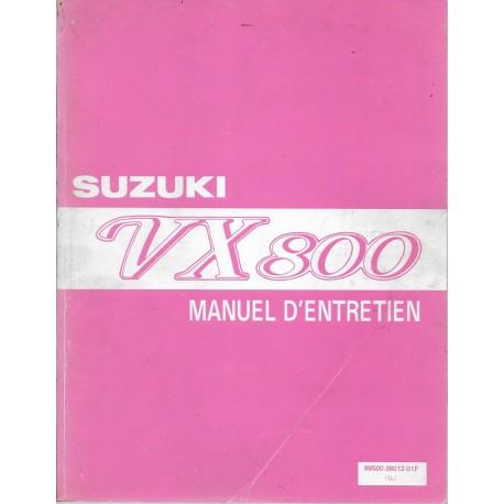 Manuel atelier SUZUKI VX 800 de 1990 à 1992 (03 / 1992)