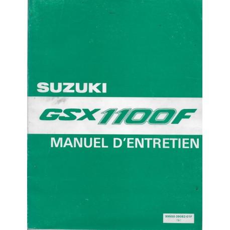 Manuel atelier SUZUKI GSX 1100 F (11 / 1990)