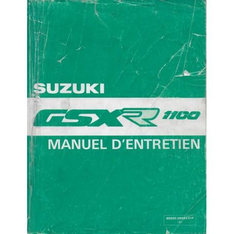 Manuel atelier SUZUKI GSX-R 1100 de 1989 à 1992 (05 / 1992)