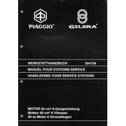 PIAGGIO GILERA moteur 50 cc à 6 vitesses ( manuel atelier)