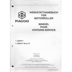 PIAGGIO LIBERTY 50 cc 4 temps (manuel atelier 02 / 2001)