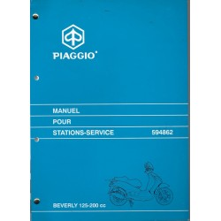 PIAGGIO BEVERLY 125cc et 200 cc 4 temps (manuel atelier 08 / 2001)
