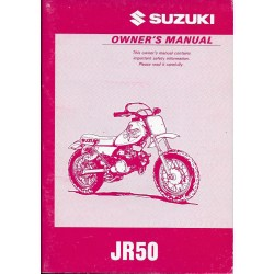 SUZUKI JR 50 (Manuel utilisateur 04 / 1996) en anglais