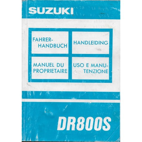 SUZUKI DR 800 (P) de 1993 (07 / 1992)