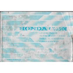 HONDA CX 650 E de 1983