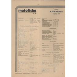 KAWASAKI Z 400-D4 de 1975 et plus