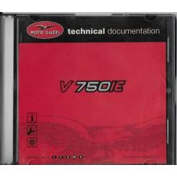 MOTO GUZZI V 750 IE (CD-Rom manuel atelier 06 / 2004)