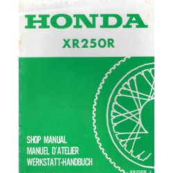 HONDA XR 250 R (additif juillet 1989)