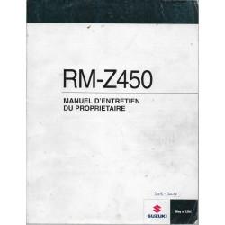 SUZUKI RM- Z 450 L1 modèle 2011 (04 / 2010)