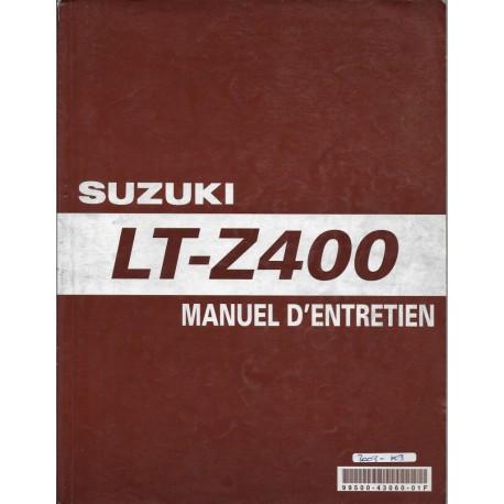 Manuel atelier SUZUKI LT-Z 400 K3 (04 / 2002)