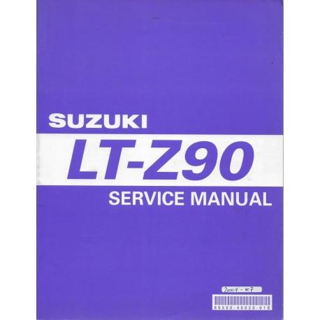 SUZUKI LT- 90 K7 (manuel atelier 09 / 2006) en anglais
