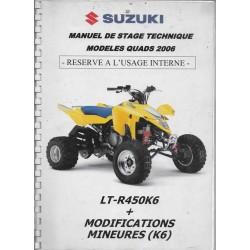 Manuel stage technique SUZUKI LT-R 450 K6 (12 / 2005)