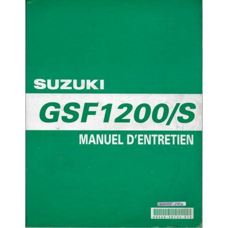 Manuel atelier SUZUKI GSF 1200 (1996 à 1999 inclus)