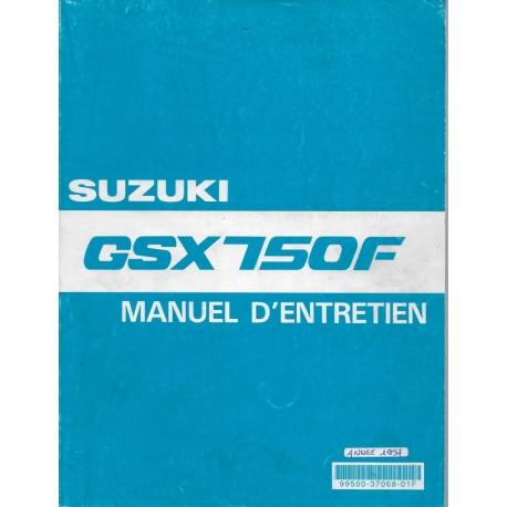 Manuel atelier SUZUKI GSX 750 F de 1989 à 1997 (12 / 1998)