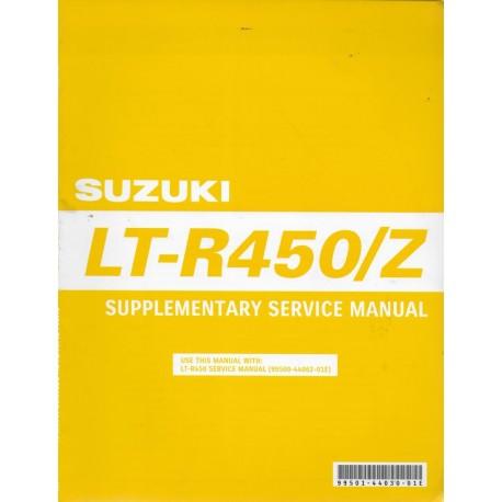 Manuel atelier additif SUZUKI LT-R 450 / Z K9 (10 / 2008)