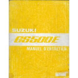 Manuel atelier SUZUKI GS 500 E (03 / 1997)