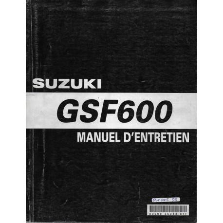 Manuel atelier SUZUKI GSF 600 (1995 à 1999) (05 / 2002)