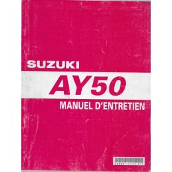 Manuel atelier SUZUKI AY 50 de 1997 à 2001 (05 / 2002)