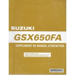 Manuels atelier additif SUZUKI GSX 650 FAK9 de 2009