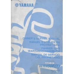 YAMAHA WR 450 F (T) de 2005 type 5TJ
