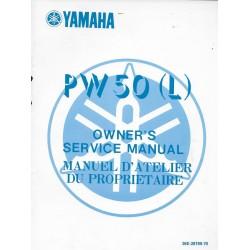 Manuel atelier YAMAHA PW 50 L 1984