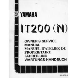 Manuel atelier YAMAHA IT 200 (N) de 1985