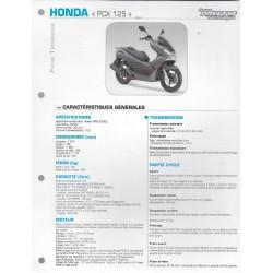 HONDA PCX 125 (2012 et 2013) Fiche RMT