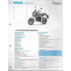 HONDA MSX 125 (2014 et 2015) Fiche RMT
