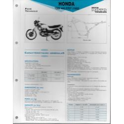 HONDA CBX 400 F / F2 (1982) Fiche RMT