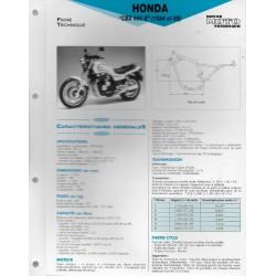 HONDA CBX 650 E (1984 et 1985) Fiche RMT