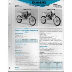 KAWASAKI KX 125 (1992 et 1993) (Fiche RMT)