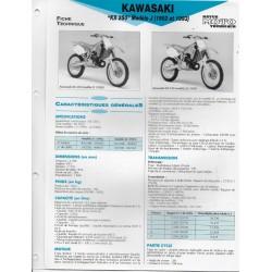 KAWASAKI KX 250 (1992 et 1993) (Fiche RMT)