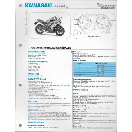 KAWASAKI ER- 6f (2012) (Fiche RMT)