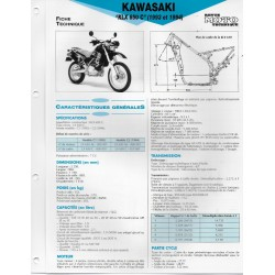 KAWASAKI KLX 650 C (1993 et 1994) (Fiche RMT)