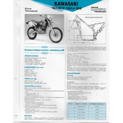 KAWASAKI KLX 650 R (1993 et 1994) (Fiche RMT)