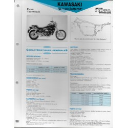 KAWASAKI ZL 1000 Eliminator (1987 et 1988) (Fiche RMT)