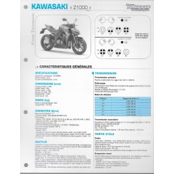 KAWASAKI Z 1000 (2014) (Fiche RMT)