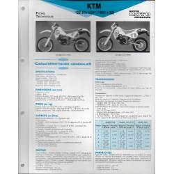 KTM GS 600 LC4 (1990 à 1993) Fiche RMT