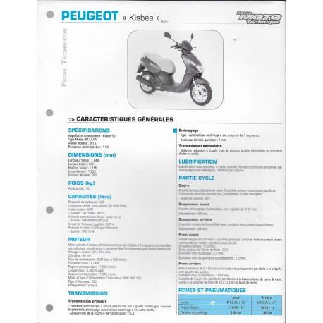 PEUGEOT Kisbee 50 (2015) Fiche RMT