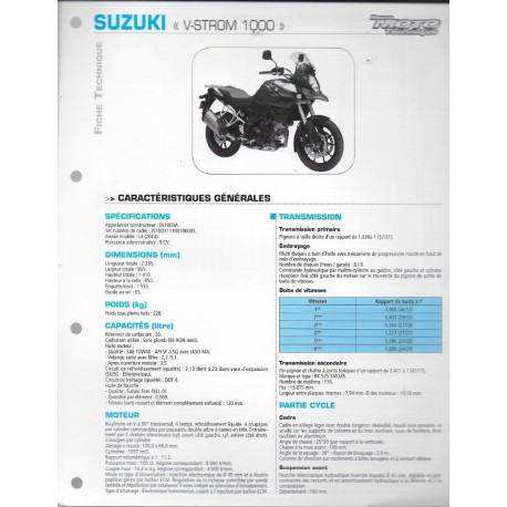 SUZUKI V-STROM L4 de 2014 (Fiche RMT)
