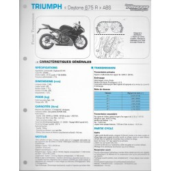 "TRIUMPH ""DAYTONA 675 R"" ABS (2013) Fiche RMT"