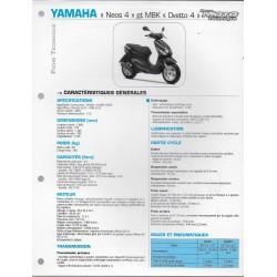 YAMAHA Néos 4 et MBK Ovetto 4 (2009) (Fiche RMT)