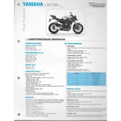 YAMAHA MT 125 (2015) type 5D7C / 5D7L (Fiche RMT)